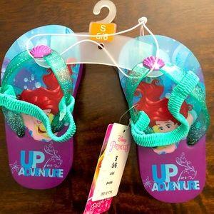 Little Mermaid Disney Princess Sandals NWT S 5/6